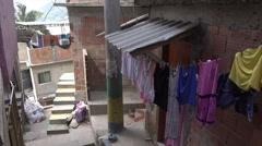Stock Video Footage of Tourists visit Santa Marta favela slum, Rio de Janeiro, Brazil
