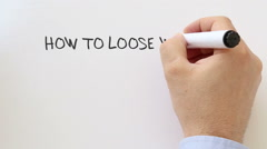 How to loose weight Stock Footage