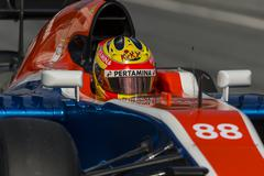 MONTMELO, SPAIN- FEBRUARY 25, 2016. Driver Rio Haryanto.  Team Manor F1 Stock Photos