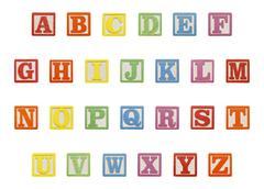 Alphabet Blocks Top Stock Photos