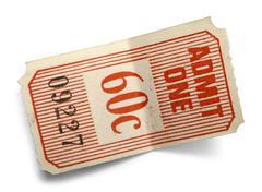 Bent Ticket - stock photo