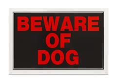 Beware of Dog Sign Stock Photos