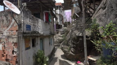 Santa Marta favela slum, Rio de Janeiro, Brazil Stock Footage