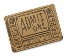 Black Admit One Ticket - stock photo