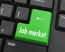 job market - stock illustration