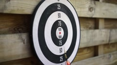 Arrow fails to hit the target. Complete failure, loss, unsuccessful attempt - stock footage