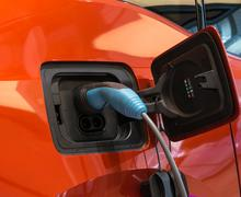 Charging an electric car Stock Photos