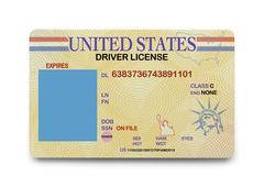 Blank Driver License Stock Photos