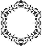 Unusual lace frame, decorative element with empty place for your text. Vector - stock illustration