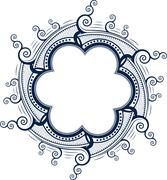 Unusual lace frame, decorative element with empty place for your text. Vector Stock Illustration