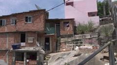 Stock Video Footage of Santa Marta favela slum, Rio de Janeiro, Brazil