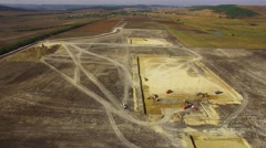 Construction Machinery Preparing Site On Field - stock footage