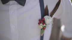 Flower woven into the harness braces Stock Footage