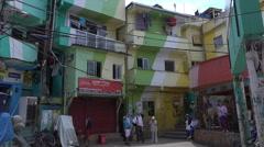 Tourists visit Santa Marta favela slum, Rio de Janeiro, Brazil Stock Footage