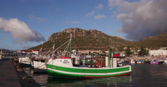 Boats in Kalk Bay harbour Cape Town Stock Footage