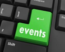 events button - stock illustration