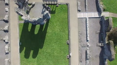 4k Aerial video of a castle in Ireland - stock footage