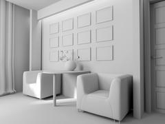 Office interior - stock illustration