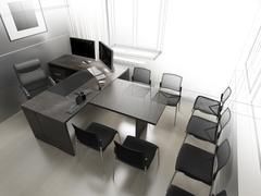 Stock Illustration of Office interior