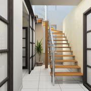 Corridor in modern office - stock illustration