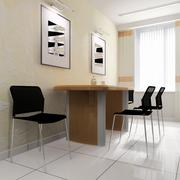 dining area in a modern office - stock illustration