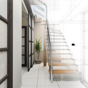 Stock Illustration of Corridor in modern office