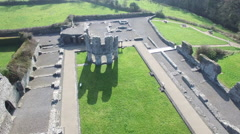 4k Aerial video of a castle in Ireland Stock Footage