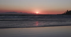 Sunrise over the a beach in Cape Town Stock Footage