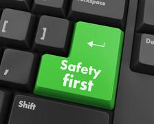 Safety first Stock Illustration