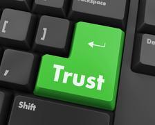 Stock Illustration of trust button