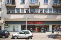 Monoprix store in France Stock Photos
