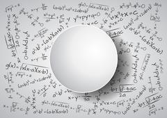 Illustration of formula mathematics with blank area Stock Illustration