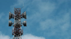 Telephone, cellphone, tv or radio tower time lapse video in 4k Stock Footage