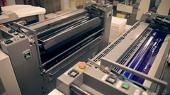 Machines for offset printing - stock footage