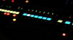 Panning Mixing Board Lights Stock Footage