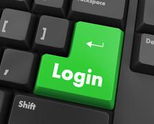 login - stock illustration