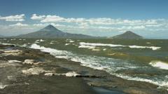 Volcanoes Lake Nicaragua in Ometepe Stock Footage