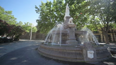 Fountain Square.    Agde, France Stock Footage