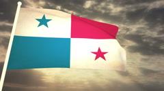 Flag Panama Stock Footage