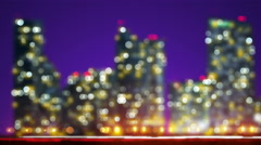 Out of focus lights night city and traffic loop 4k (4096x2304) Stock Footage