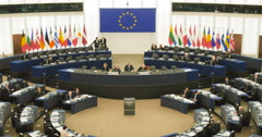 Plenary session of European Parliament Jean-Claude Juncker - stock footage