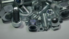 The rotation around the pile of assorted tool. Real time capture Stock Footage