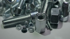 The rotation around the pile of assorted tool. Real time capture - stock footage