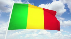 Flag Mali Stock Footage
