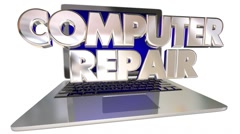 Computer Repair Laptop Fix Technical Support Help Solve Problem Stock Footage
