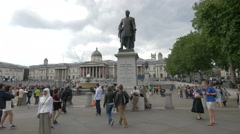 View of Major General Sir Henry Havelock statue in London Stock Footage