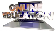 Online Education School Training Learning Laptop Computer Stock Footage