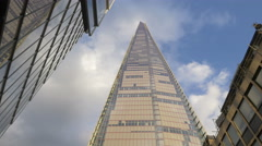 Low angle shot of Shangri-La Hotel in London Stock Footage