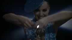 Showgirl Performance Luxury Look In Smoke Lights Slow 38 Stock Footage