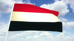 Flag Yemen Stock Footage